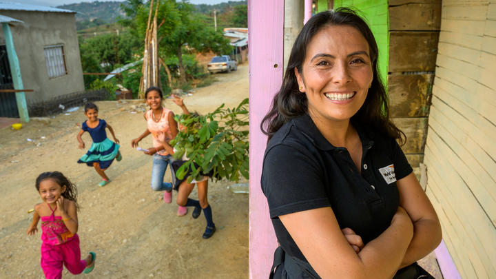 Mayerly Sánchez Clavijo, ehemaliges World Vision-Patenkind, war Sprecherin der Kinder-Friedensbewegung in Kolumbien