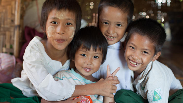 Kinder in Myanmar